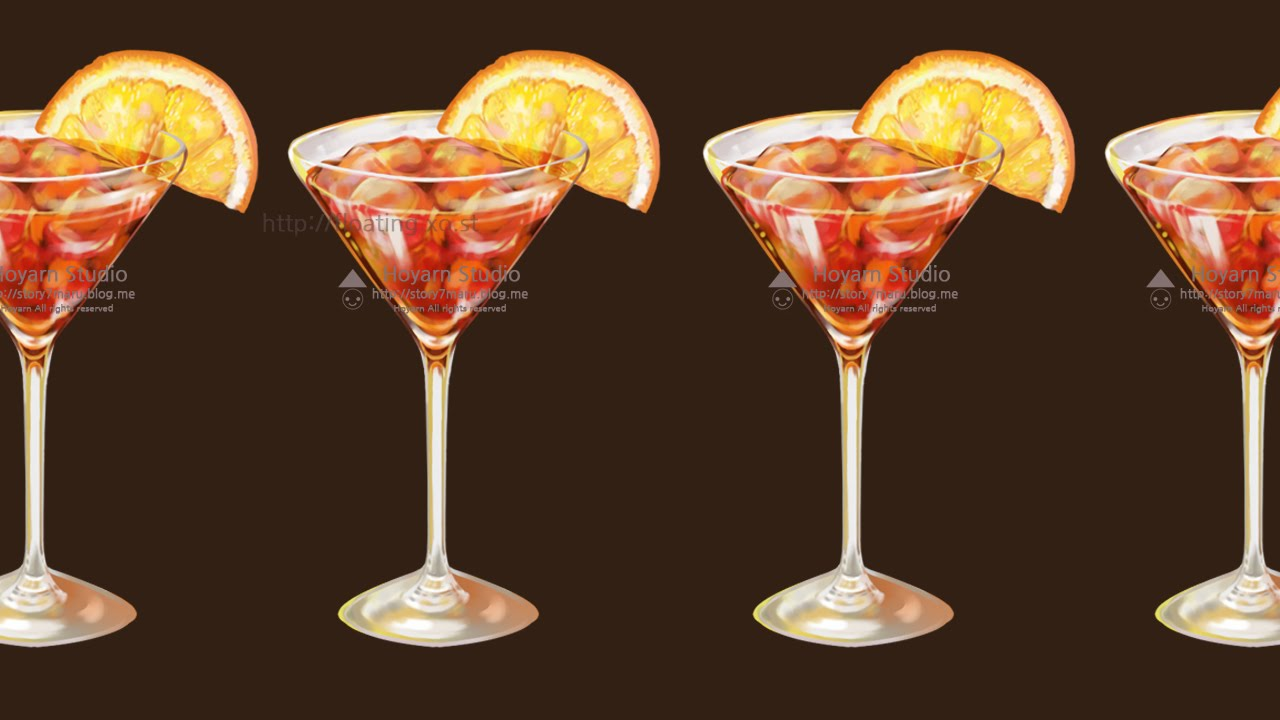 Digital painting orange cocktail youtube for Paint and cocktails