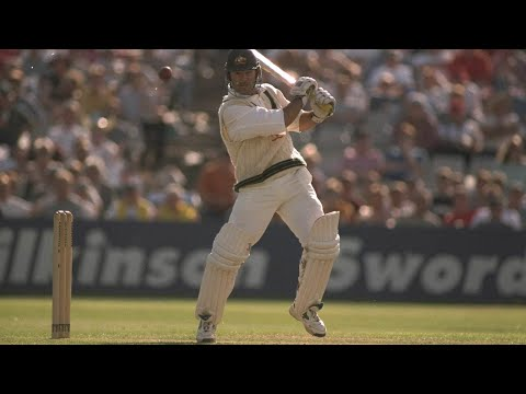 Ricky Ponting's maiden Test century on Ashes debut