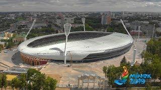 Последние приготовления перед открытием стадиона «Динамо». Эксклюзивная аэросъемка