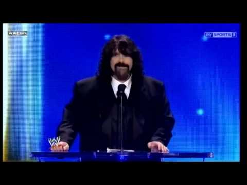 Mick Foley Beats Chris Jericho at the Hall Of Fame Ceremony 2013 Travel Video