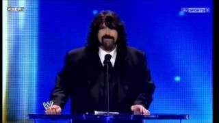 Mick Foley Beats Chris Jericho at the Hall Of Fame Ceremony 2013