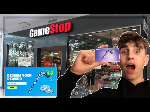 Going To GAMESTOP To Get The MINTY PICKAXE! Fortnite Battle Royale