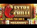 Big win in online casino. Buy Bonus - Extra Chili Megaways (x516)