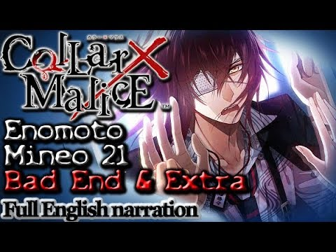 Collar X Malice - Enomoto Mineo Part 21 Bad End & Extras (Full English narration)