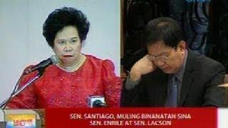 UB: Sen. Santiago, muling binanatan sina Sen. Enrile at Sen. Lacson