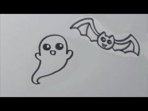 Zo Teken Je Een Schattig Spookje Vleermuis Makkelijk Youtube