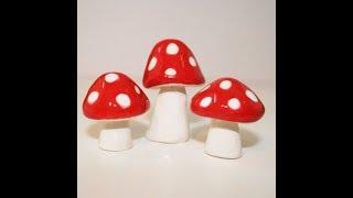 DIY How To Make Simple Clay Mushroom