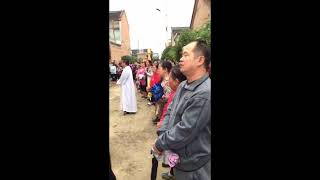 Demolizione di una chiesa a Wangcun (Changzhi, Shanxi)