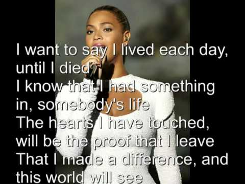 beyonce - I was Here lyrics