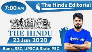 7 00 AM The Hindu Editorial Analysis By Vishal Sir 23 January 2020 The Hindu Analysis