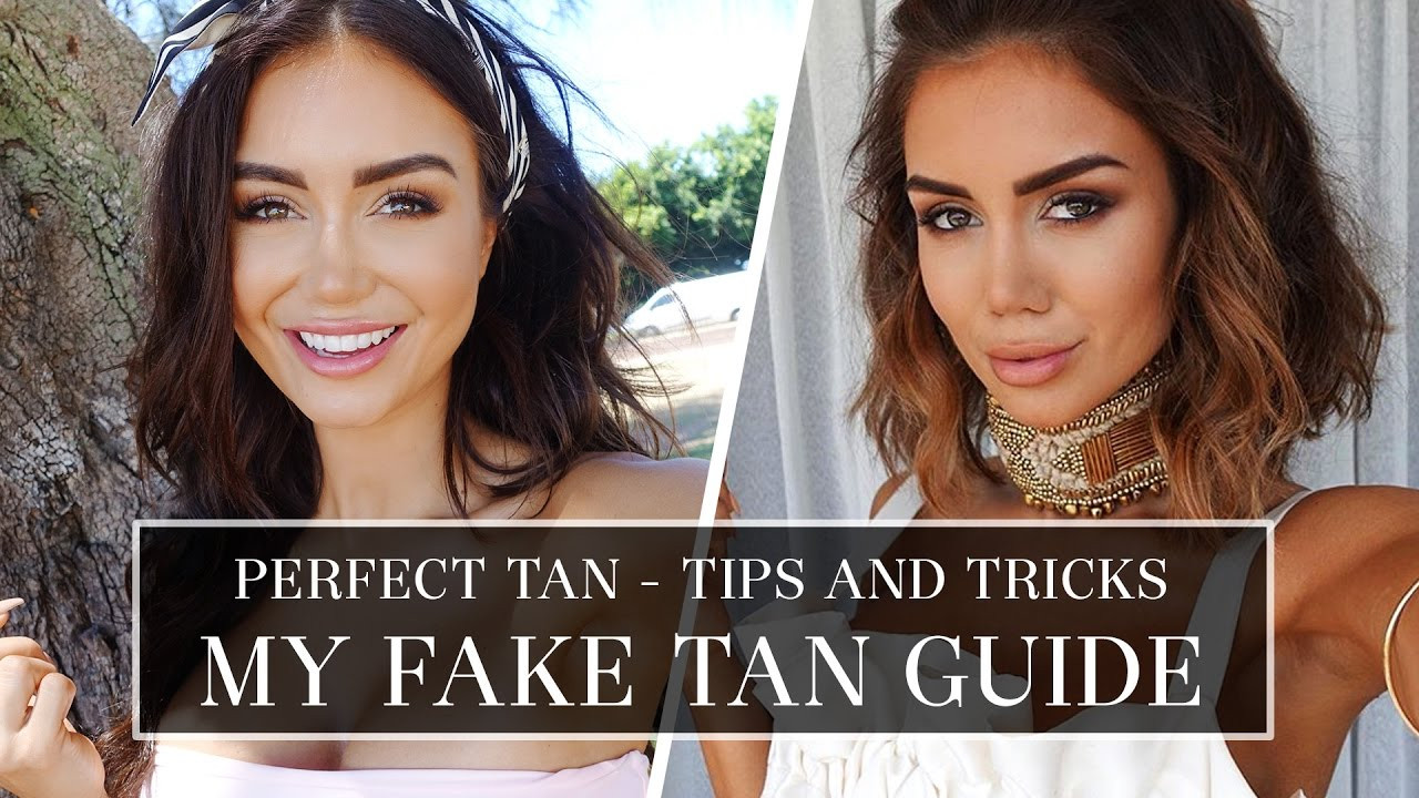 How To Fake Tan Tips For A Perfect 7 Day Fake Tanning Routine Pia Muehlenbeck