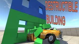 DESTRUCTIBLE BUILDING! - BeamNG.drive