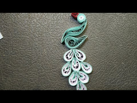 Beautiful quilled peacock design