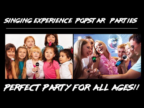 Popstar and Rockstar party studio day at singing experience