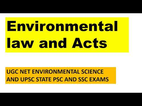 Environmental Law and Act WATER ACT AIR ACT ENVIRONMENTAL PROTECTION ACT