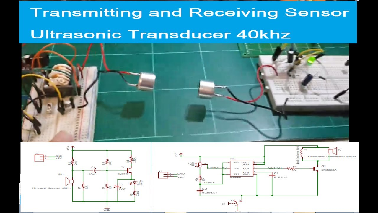 Transmitting And Receiving Sensor Ultrasonic Transducer 40khzonly Driver Circuit Test