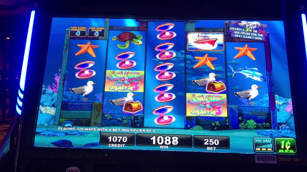 Lobstermania 3 buoy bonus free games @ max bet - YouTube