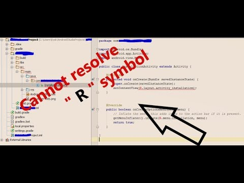 Cannot Resolve R Symbol Android Studio 21 Tutorial Latest Youtube