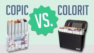 COPIC VS. COLORIT - Cheaper Alternative to Copics?