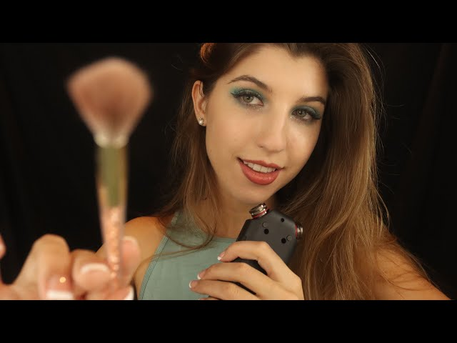 ASMR TASCAM + Face Brushing ~ Silky Soft-Spoken Tingles ✨