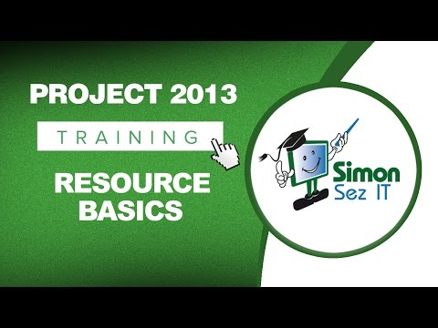 Microsoft Project 2013 Tutorial - Resource Basics