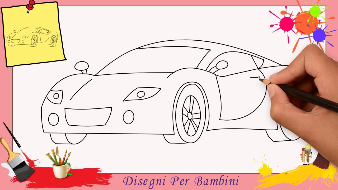 Disegni di auto come disegnare una macchina facile passo for Immagini di disegni facili