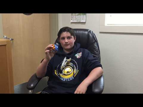 Fortuna middle schooler fastest in California with 2x2 Rubik's Cube