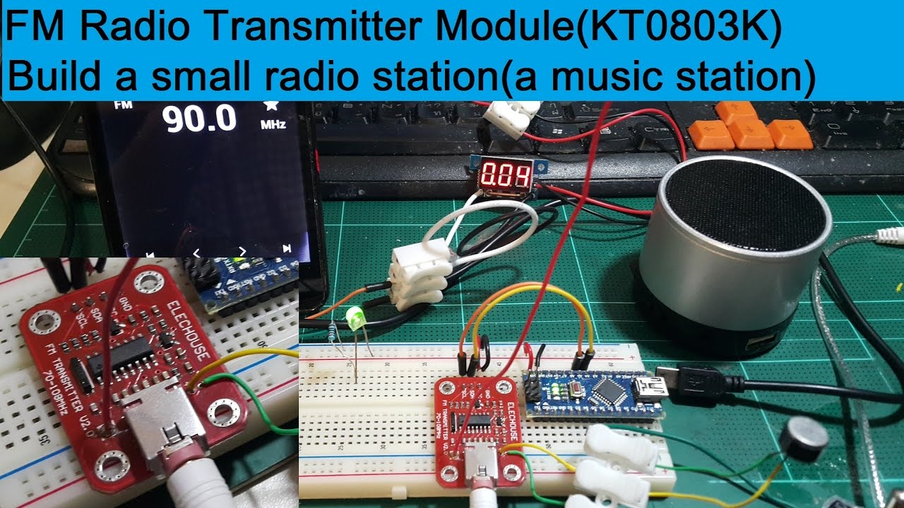 New V2.0 FM Radio Transmitter Module For Build Your Own Radio Station