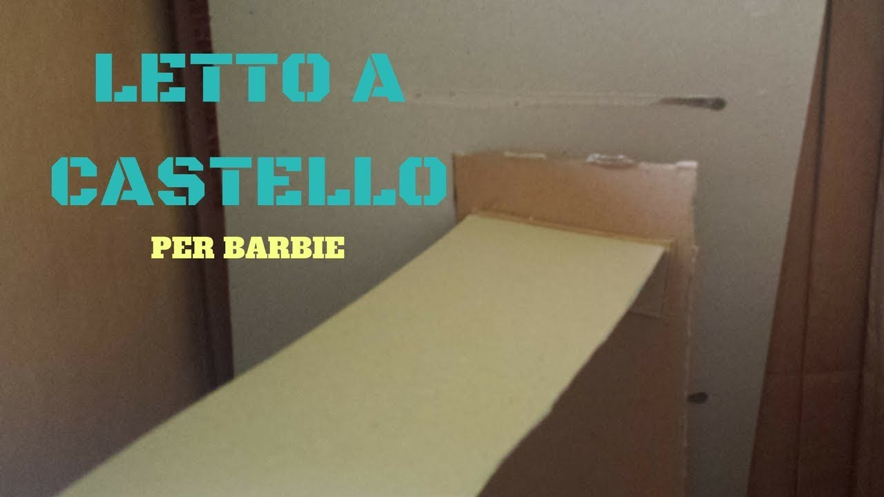 I Letti A Castello.Tutorial Letto A Castello Easy Per Barbie Youtube