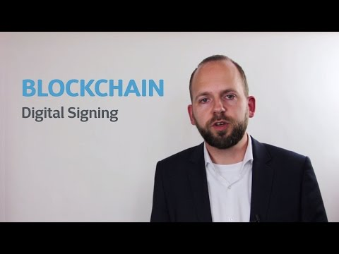 How digital signing and blockchain work together