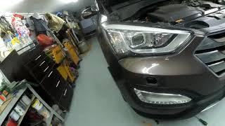 Hyundai Santa fe 2014г в - как снять передний бампер?