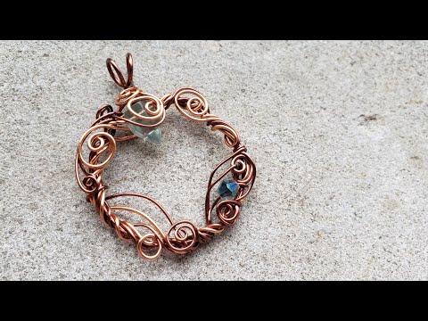 Wire Wreath Pendant