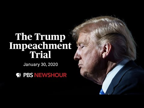 WATCH LIVE: The Senate impeachment trial of Donald Trump | January 30