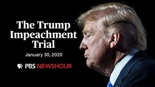 WATCH: The Senate impeachment trial of Donald Trump | January 30