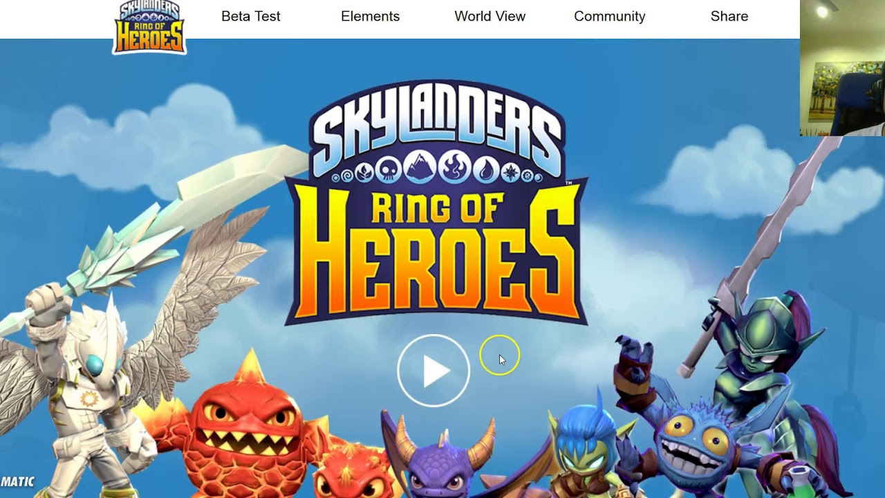 Skylanders Ring Of Heroes Beta Website