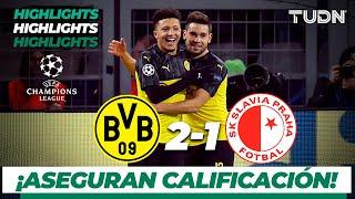 Highlights | Borussia Dortmund 2 - 1 Slavia Praga | Champions League - J 6 - Grupo F |TUDN