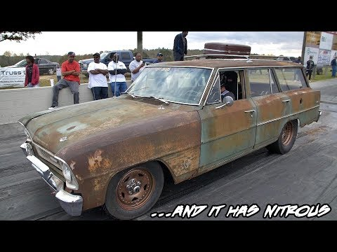 NOT YOUR AVERAGE OLD STATION WAGON!! NICE NITROUS HIT ON HERE!