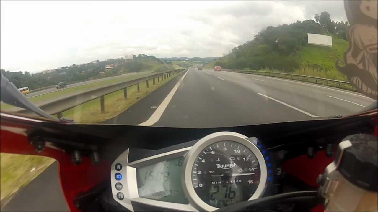 Daytona 675 Topspeed at 278km/h - YouTube