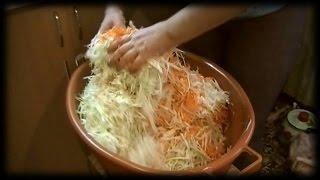 Как мы квасим капусту /// Рецепт проверенный годами.