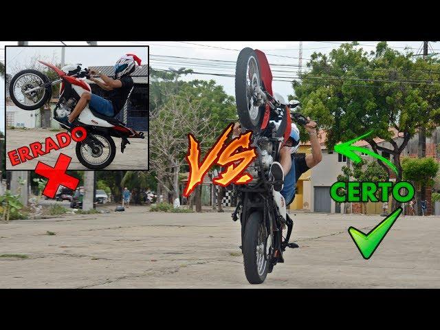 FORMA CORRETA DE EMPINAR UMA MOTO! / CERTO VS ERRADO / BROS 160