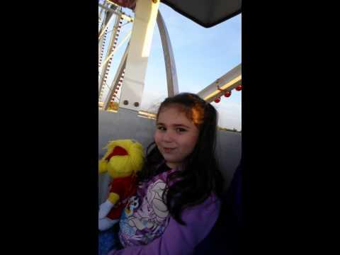 Isabel enjoys a ferris wheel