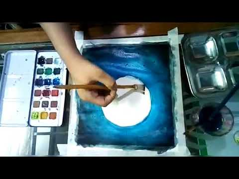 How to make a Moon light painting