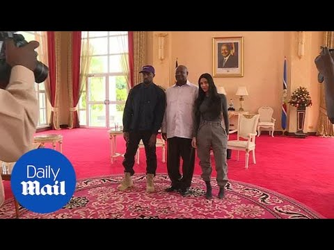 Kim and Kanye West meet Ugandan President Museveni