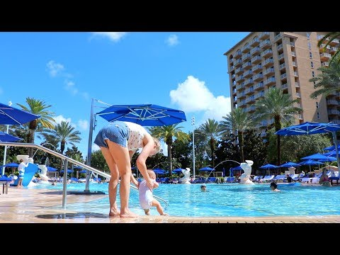 Thumbnail: BABY'S FIRST DIP IN THE POOL!!!