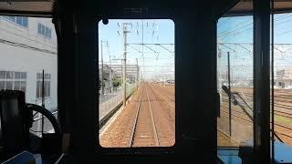 313系0番台トプナンY1編成普通岐阜行清洲~稲沢前面展望