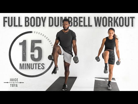 15 Minute Full Body Dumbbell Workout [Strength and Conditioning]
