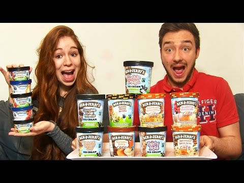 ICE CREAM CHALLENGE en COUPLE !!  14 Parfums BEN & JERRY'S DELICIEUX !!