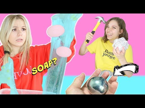 SISTERS TRY WEIRD VIRAL SATISFYING TRENDS! *Floral Foam, Soap Cutting, Slime Mixing, and More!*