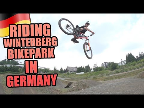 RIDING WINTERBERG BIKEPARK IN GERMANY *HUGE FLIP*