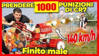 1000 Pallonate di Ronaldo a 140 km/h con Sparapalloni - ⚽️ MALATO DI CALCIO ⚽️  - theShow